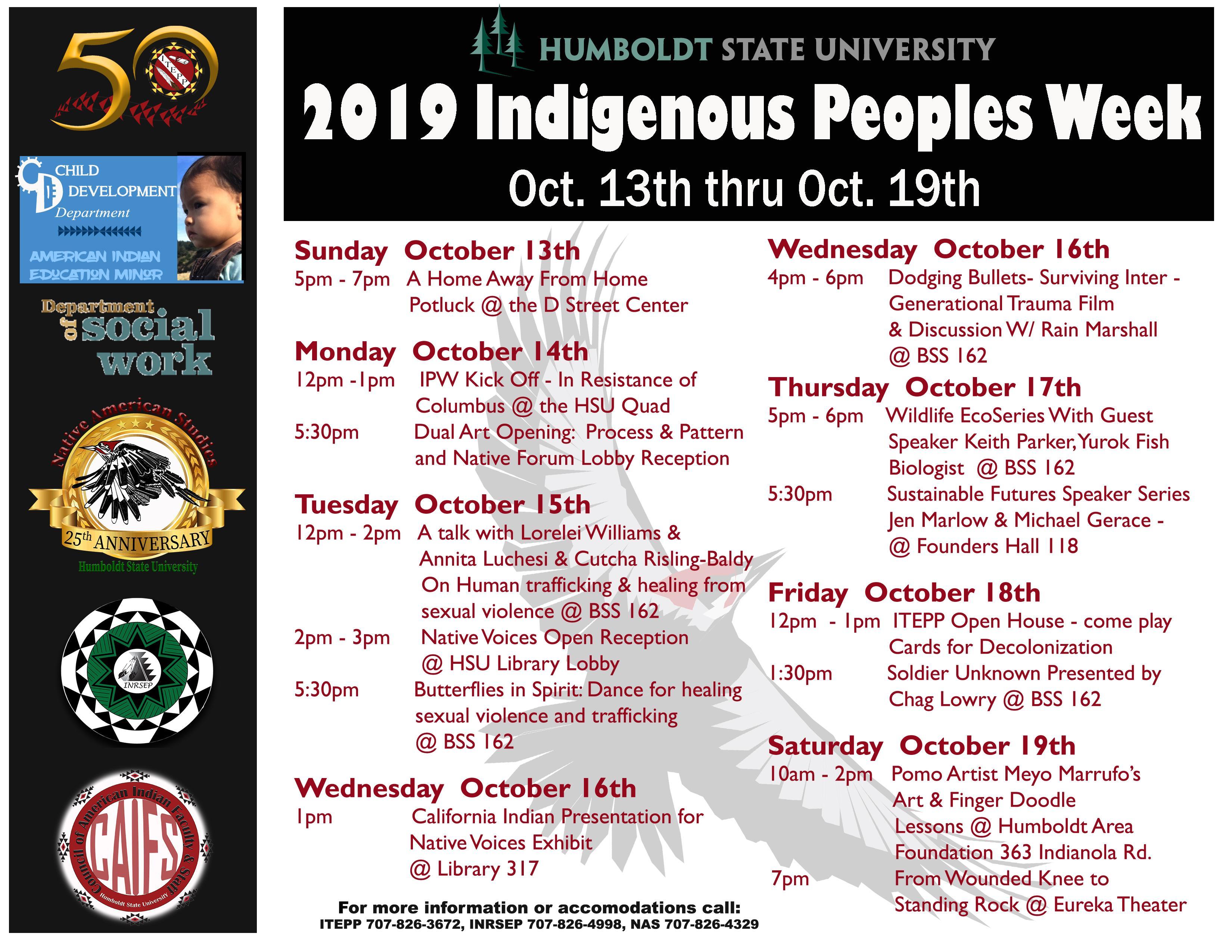 IPW 2019 Oct 13-Oct 19 Schedule