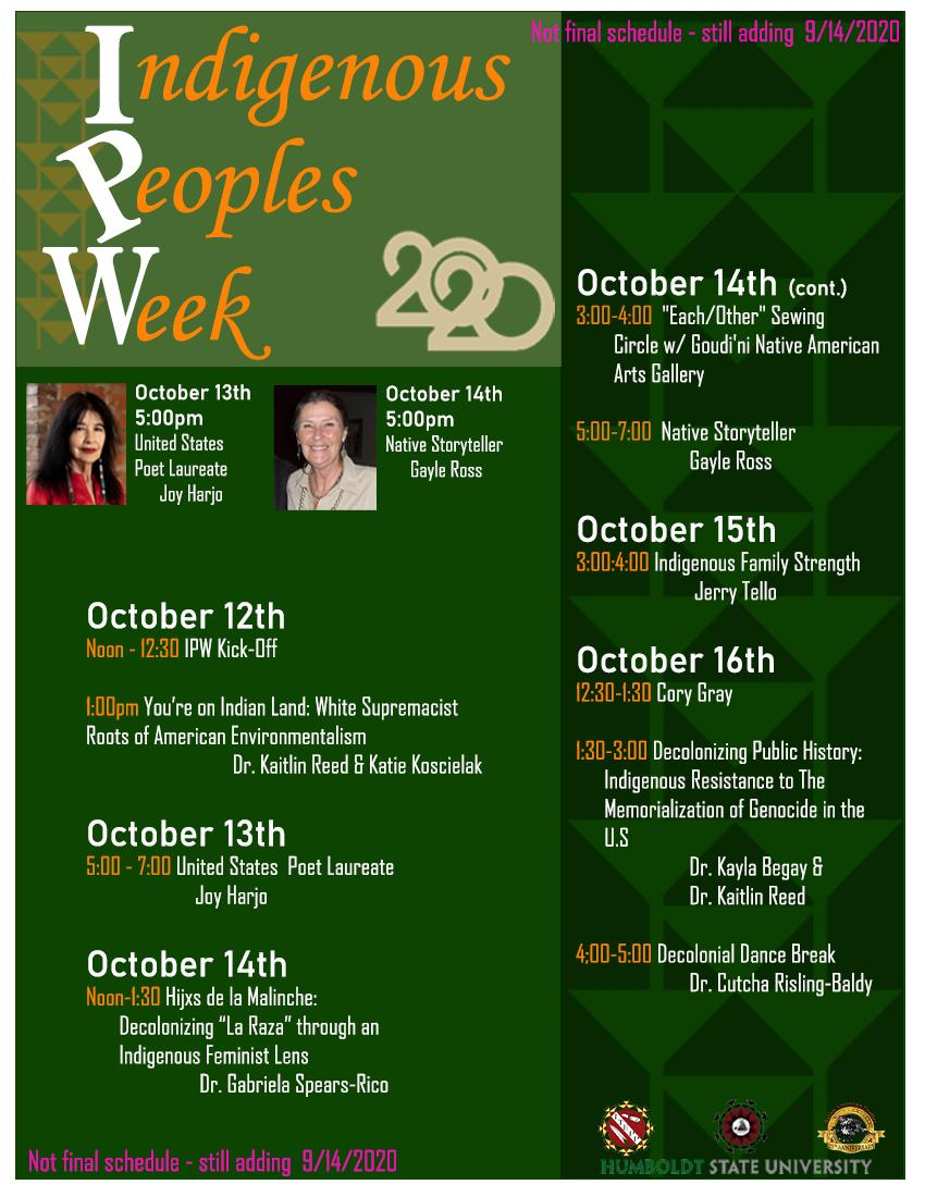Poster of Week's Events